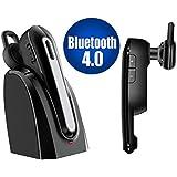 Auricular Bluetooth inalámbrico con micrófono Mic, reducción de ruido de manos libres en la oreja - color negeo