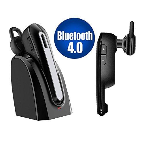 Bluetooth Headset, iitrust drahtlose Bluetooth Kopfhörer mit Mikrofon Mic, mit Ladestation , Geräusch-Annullierung Freisprecheinrichtung In-Ohr-Kopfhörer Earbuds für Apple iPhone, Samsung Galaxy, HTC, LG, Sony, PC, Laptop (A)