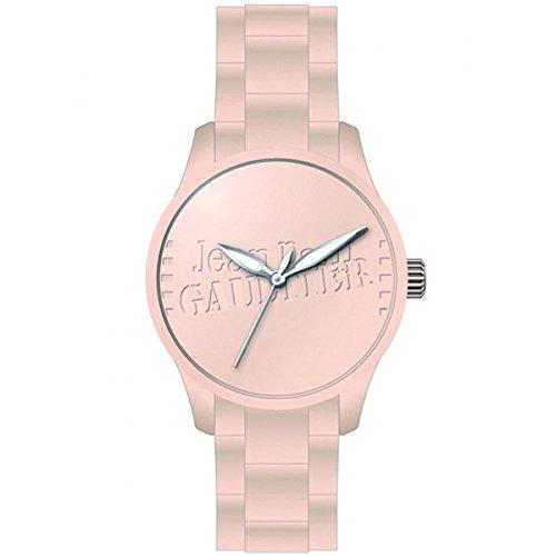 Jean Paul Gaultier - 8501106 - Montre Mixte - Cadran Rose - Bracelet Silicone Rose