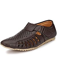Corstyle Casual Synthetic Leather Formal Office And Party Wear Sandals For Men