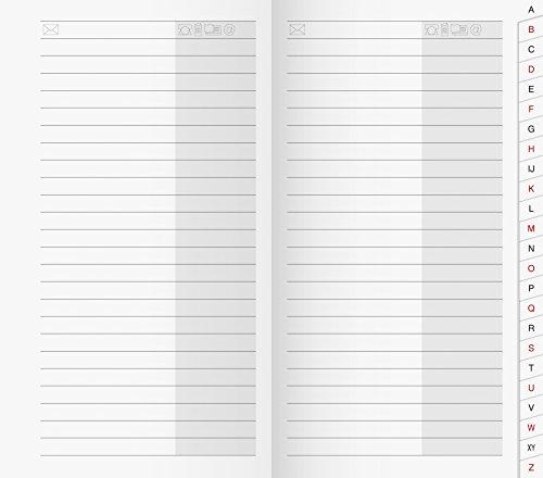 Brunnen 1070048 Adress-Registerheft für Taschenkalender/Plankalender/Sichtkalender, 87 x 153 mm, Karton-Umschlag