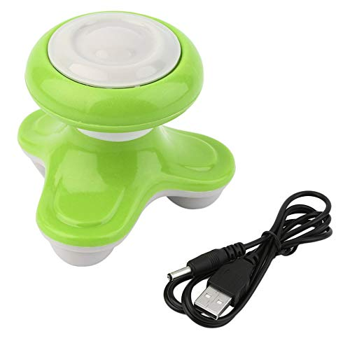 0d65f8de06b5a Mini Electric Handled Wave Vibrating Massager USB Battery Full Body Massage  green