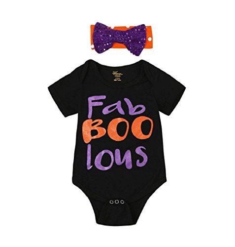 lle Overalls mit Stirnband ,ZEZKT 2017 0-24 Monate Baby Kleidung Säugling Spielanzug Infant Kostüm Bekleidungsset Kostüm Halloween (18 Monate /90) ()