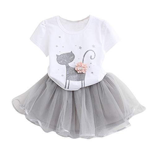 Kleinkind Baby Mädchen Karikatur Drucken Weste T-Shirt Tops + Kurze Hose Kleider Set Outfits
