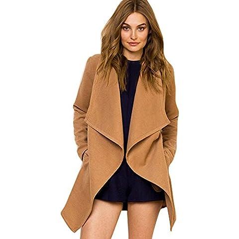 OverDose Manera de las mujeres capa de la chaqueta Outwear Coat Parka Cardigan