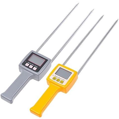 Kmise 2diferentes LCD multifunción medidor digital de humedad Tester materiales de fibra cruda de comprobador de 4Digital LCD grano humedad metro de maíz, frijoles, arroz TK100S Pack de