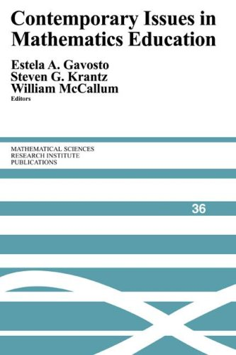 Contemporary Issues in Mathematics Education Paperback (Mathematical Sciences Research Institute Publications)