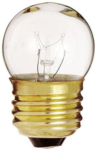 Klar Satco-glühlampe (20Stück Satco S37947-1/2Watt Schild & Indikator klar S11Glühlampe mit Mittel-Boden)