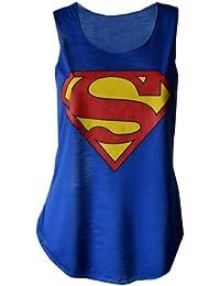 MyMixTrendz-womens dope geek superman 'cocaine & caviar» slogan vest débardeur homme