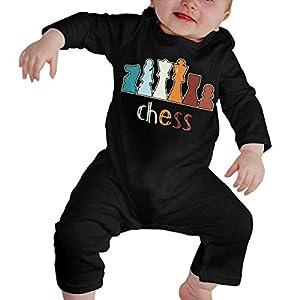 SDLZIJFGHBC Vintage Chess Newborn Kids Long Sleeve Romper Jumpsuit Baby Clothes 4