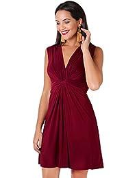 KRISP® Damen Kleid mit Geknotetem Dekolleté