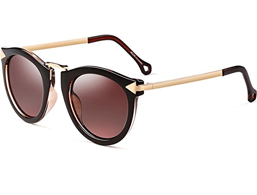 ATTCL Damen Vintage Mode Polarisiert Sonnenbrille Damen 11189 Brown