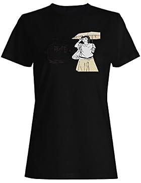 Moda, muchacha, mujeres, divertido, vendimia, arte, ciudad camiseta de las mujeres xx77f