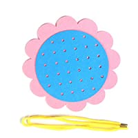Whiie891203 Educational DIY Toys,Sunflower Non-woven Threading Toy Children Hand Skills Training Education Tool Learning Toy for Kids and Adults, Birthday & Christmas Gift Choice