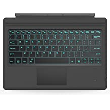 MoKo Surface Pro 4 / 3 Teclado Inalámbrico Bluetooth - Ultra-Slim Wireless Keyboard ( QWERTY ) para Microsoft Surface Pro 4 / 3 Tableta / Panel Táctil 2 Botones, ( NO APTA PARA Surface 3 ) Negro