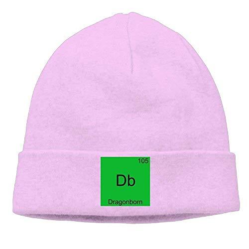 n Funny Chemistry Element Symbol Classic Travel Black Beanies Knit Hat ()