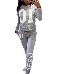 Mujeres Chándales Impresión Pantalones Basculador Sudadera Chaqueta Trajeses Suit
