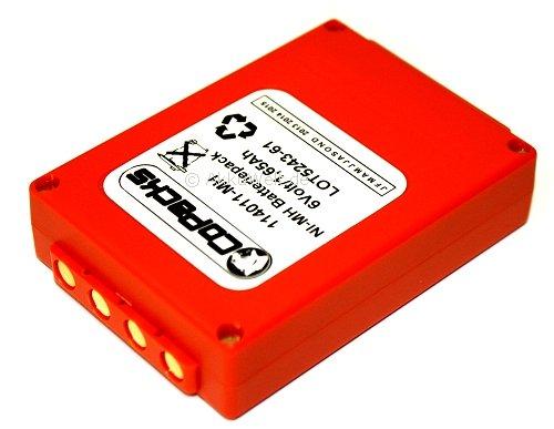 Batterie de rechange hBC fUB5AA fUB05AA fBFUB05 bA205030 de grue 1,65Ah 6 v