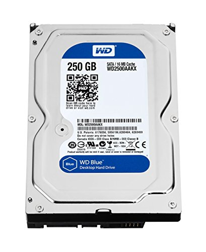 WD Blue Desktop-Festplatte (250 GB, 3,5 Zoll / 8,9 cm, SATA 6 Gb/s, 7.200 U/min, 16 MB Cache (WD2500AAKX) (altes Modell) (zertifiziertes generalüberholt) - Sata-festplatte 7.200 U / Min 16mb Cache