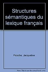 Structures sémantiques du lexique français