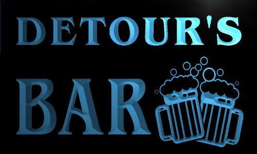 w136034-b-detour-name-home-bar-pub-beer-mugs-cheers-neon-light-sign