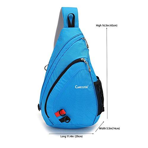 SUNSEATON Tragbar Sling-Rucksack, Sling Bag, Schulterrucksack für Outdoorsport, Wandern, Radfahren, Bergsteigen, Reisen,Schule Blau