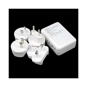 Multi Plug 4 ports USB AC Chargeur Adaptateur mural pour iPhone 4G iPad 3G 3GS 4S 1 2