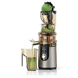 Arendo - Estrattore | Slow Juicer | Capacità totale 1L | Rapida produzione di succo con elevata resa | Accessori lavabili in lavastoviglie | Blocco di sicurezza integrato | BPA free | Certificato GS