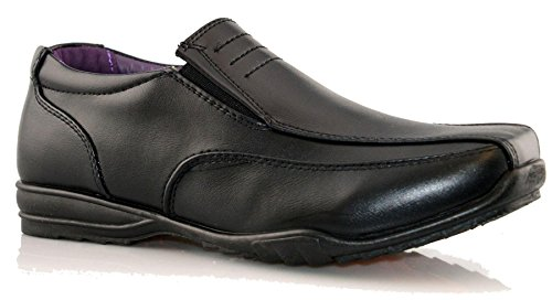 Boys Kids New Formal Smart Casual Slip On Back To School Trainers...