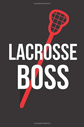 Lacrosse Boss: Blank Line Journal por Jilly Yale-Darling