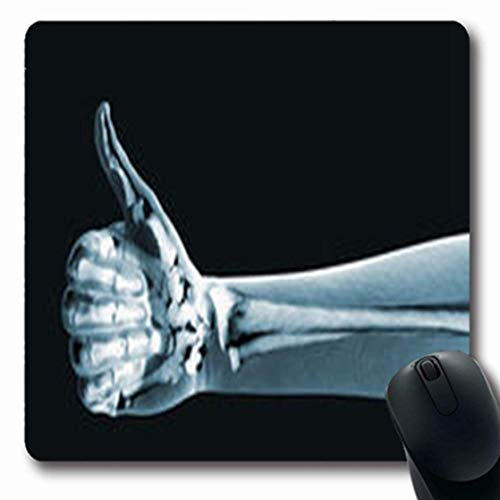 a325a13cca0a Luancrop Alfombrillas Health Xray Hand Ok On Black Science Paciente Oblong  Gaming Mouse Pad Alfombra Antideslizante de Goma