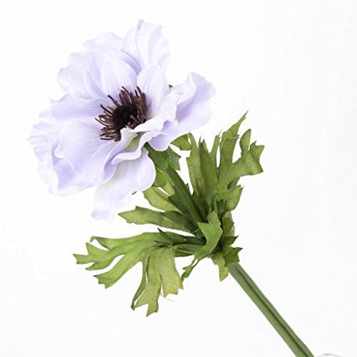 artplants Set 12 x Künstliche Anemone, Flieder, 35 cm, Ø 9 cm – Kunstblume/Dekoblume
