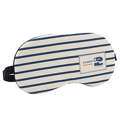 Tchin Schlaf-Augenmaske Mittagspause Reise Baumwollmaterial für Schlaf-Schattierung entlasten Augenermüdung Augenschutz (Form : A)