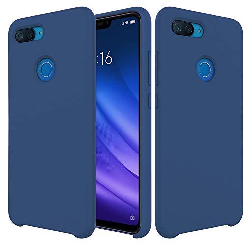 Pacyer Funda Compatible conXiaomi Mi 8 Lite, Ultra Suave TPU Gel de Silicona Case Protectora Suave Flexible teléfono Absorción de Impacto Elegante Carcasa Compatible Xiaomi Mi 8 Lite (Azul)