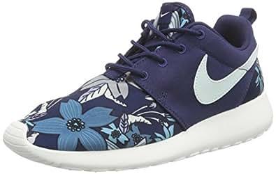 Nike  WMNS NIKE ROSHE ONE PRINT PREM, Sneakers basses femmes - Bleu - Blau (431 MIDNIGHT NAVY/FIBERGLASS-SAIL), 36