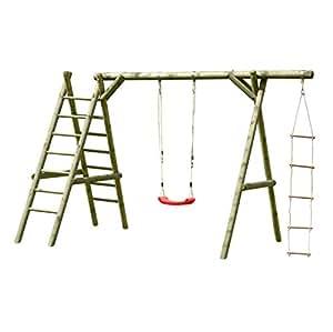 Altalena da giardino in legno classic 3 1 giochi e giocattoli - Altalena da giardino amazon ...