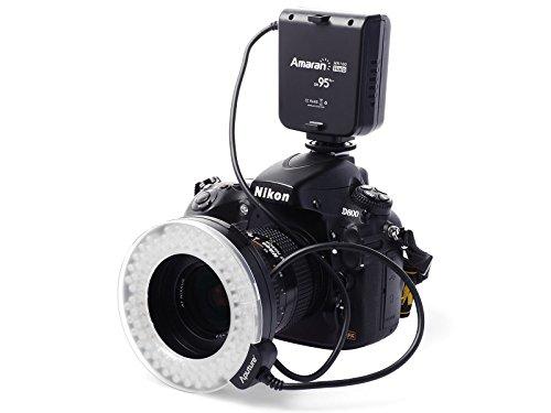 Amaran Halo AHL-HC100 LEDRingblitz für Nikon DSLR D4 D90 D600 D800 D5200 D7000 D7100 Camera LF336