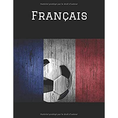 Français: French composition notebook college ruled Gift for teachers French student or travelers