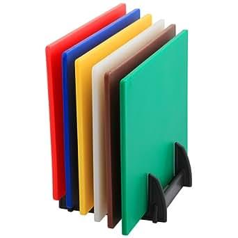 Genware 1600PE Planche à découper en plastique rack peut contenir 1/5,1cm Planches