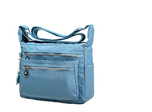 Yy.f Freizeit Handtaschen Neues Multi-Level Schulterbeutel Tragbare Wasserdichte Nylontragetasche Reisekurierbeutel Mehrfarbenpaket Blue