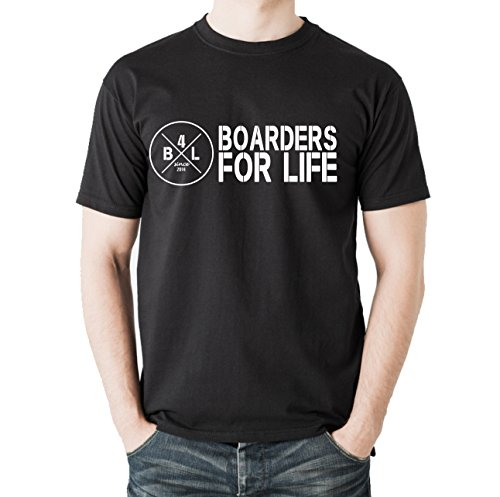 Siviwonder Unisex T-Shirt B4L MOTIV1 BOARDERS FOR LIFE - Wakeboard Schwarz