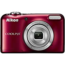 Nikon COOLPIX L31 Compact Digital Camera - (16.1 MP, 5x Optical Zoom) 2.7-Inch LCD - Red