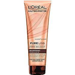 L'Oréal Paris Haute Expertise Pure Liss Shampoing Cheveux frisés et Indomptables 250 ml