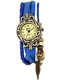 Naivo Women's Quartz Leather Casual Watch, Color:Blue (Model: NAIVO-WATCH-1181)