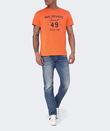Gant Wave Breakers T-Shirt Rosa ARANCIO 812