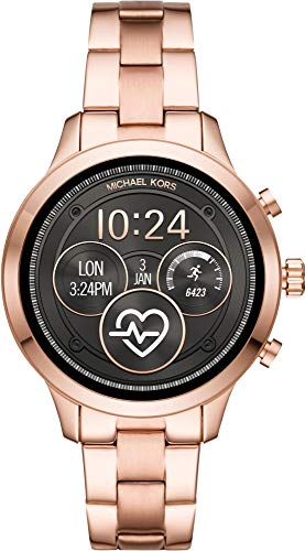 Michael Kors Damen Digital Smart Watch Armbanduhr mit Edelstahl Armband MKT5046