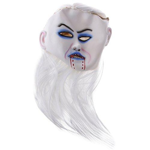 Gazechimp Gesicht Maske Kopfmaske Furchtbar für Halloween Karneval Weihnachten Kostüm Party Cosplay - (Bemalte Kostüme Halloween Gesichter)
