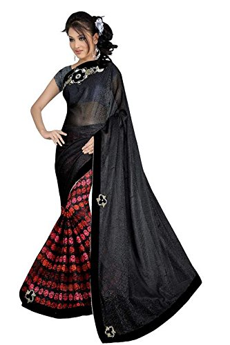 STYLISH SAREES FANCY DESINER HALF HALF SAREE