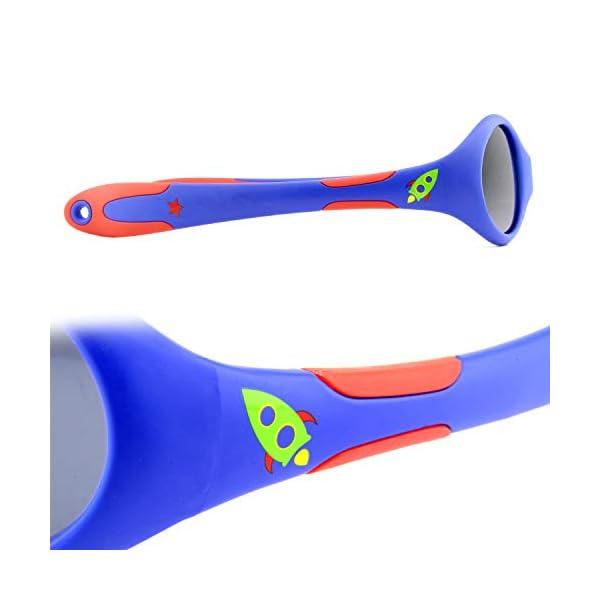 ActiveSol gafas de sol para BEBÉ | NIÑO | 100% protección UV 400 | polarizadas | irrompibles, de goma flexible | 0-24… 3