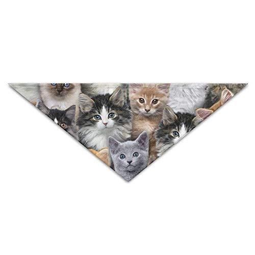 Gxdchfj Various Cat Stickers Turban Triangle Scarf Bib Scarf Pet Cat Baby Puppy Saliva Dog Towel Bandana Bibs Triangle Head Scarfs Accessories (Cat Head Kostüm Muster)